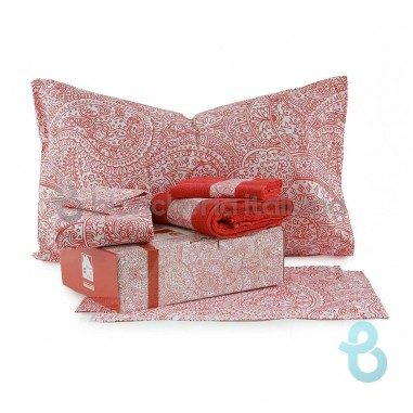 Bassetti Home Kit regalo in a Box Red per letto Singolo una Piazza
