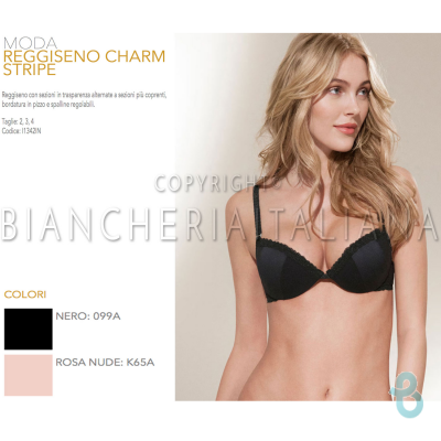 GOLDEN LADY REGGISENO CHARM STRIPE - Biancheria Italiana