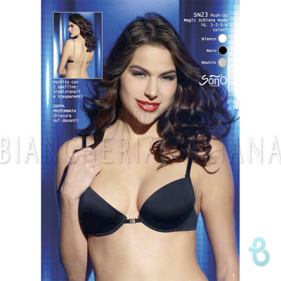 Sono Reggiseno Push Up Foderato Magic Schiena SN23 - Biancheria Italiana