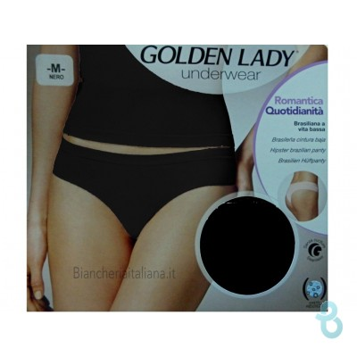 Golden Lady Slip Brasil Vita Bassa Romantic - Biancheria Italiana