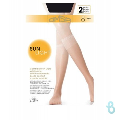 OMSA GAMBALETTO SUN LIGHT 8 DEN (2 PAIA) - Biancheria Italiana