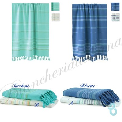 BASSETTI TELO MARE-PAREO 80X160 FANTASIE MAGIC STRIPE - Biancheria Italiana