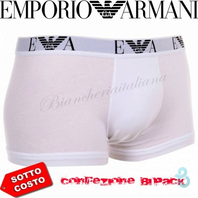 Emporio Armani Stretch Trunk 2 PACK (2 BOXER) - Biancheria Italiana
