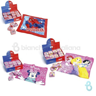 Caleffi Disney Lavette In Spugna Magica Princess - Minnie - Spiderman - Biancheria Italiana