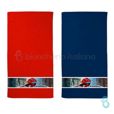 Caleffi Marvel Set Asciugamani Viso In Cotone Spiderman Broadway - Biancheria Italiana
