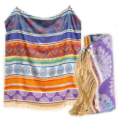 Desigual Plaid - Coperta Tribal Galactic - Biancheria Italiana