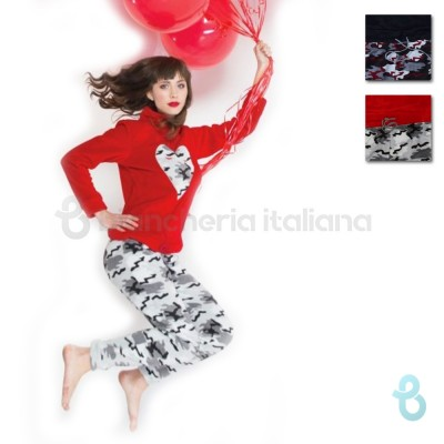Milk And Honey Pigiama Donna Invernale In Pile Coral PD0579 - Biancheria Italiana