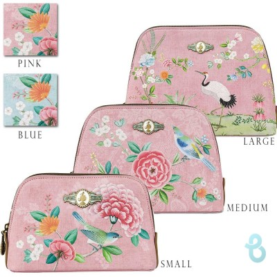 Pip Studio Cosmetic Bag Triangle Floral - Varie Dimensioni - Biancheria Italiana