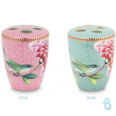 Pip Studio Toothbrush Holder Floral Good Morning - Porta Spazzolino Da Denti - Biancheria Italiana