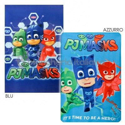 PJ Masks Plaid Super Pigiamini In Pile 100x140 Cm Running - Team - Biancheria Italiana