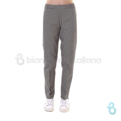 Ragno Pantalone Donna Tight Fit Fantasia Pied De Poule 71061Q - Biancheria Italiana