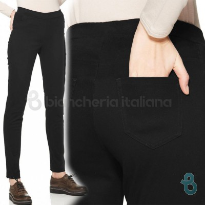 Ragno Pantalone Donna Perfect Fit Slim In Misto Cotone 71076Z - Biancheria Italiana