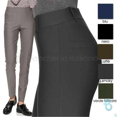 Ragno Pantalone Donna Straight Fit In Viscosa 70604Q - Biancheria Italiana