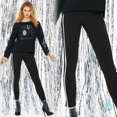 SiSi Leggings Splendore Con Bande Laterali - Biancheria Italiana